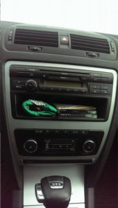 pumpkin android car gps for vw installed in skoda octavia from 2009 (2)
